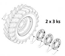 718471010 - závaží do zadních kol New Holland 6x50 kg - 6x 47131052