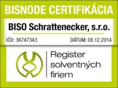 Prestížne ocenenie Certifikát solventnej firmy